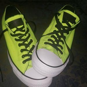 Neon yellow Converse allstar shoes size12